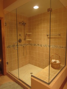Glass Shower in Master Suite